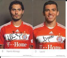 FOOTBALL - BAYERN MUNICH - DEDICACES JOUEURS LUCIO ALTINTOP - 2CP - Soccer