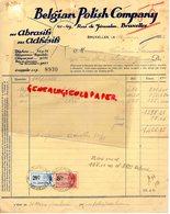 BELGIQUE - BRUXELLES- FACTURE BELGIAN POLISH COMPANY- ABRASISFS ADHESIFS-41 RUE DE JERUSALEM-1932 - Petits Métiers