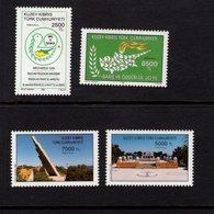 672699805 TURKISH CYPRUS 1994 POSTFRIS MINT NEVER HINGED POSTFRISCH EINWANDFREI SCOTT 368 369 370 371 TURKISH PEACE OPER - Chypre (Turquie)