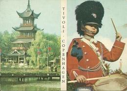 Copenhagen (Danimarca, Danmark) The Chinese Tower In Tivoli Garden And The Tivoli Guard - Danimarca