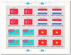 VN New York 1980, Postfris MNH, Flags ( Complete Set ) - New York - Hoofdkwartier Van De VN