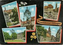 Gottingen (Niedersachsen) Ansicht: Auditorium Und Jacobikirche, Markt, Ganseliesel, Theater, Marienkirche - Goettingen