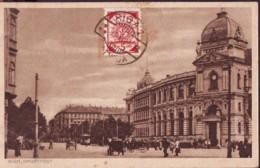 Coat Of Arms  1920 Val 5 Kap  On Postcard Of Riga Hauptpost - Lettonia