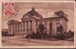 Coat Of Arms  1920 Val 5 Kap  On Postcard Of Riga Kunstmuseum - Lettonia