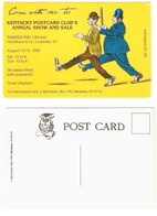 KENTUCKY POSTCARD CLUB'S ANNUAL SHOW AND SALE - Louisville - 1988 - Bourses & Salons De Collections