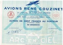 Action Ancienne - Avions René Couzinet -Titre De 1931 - N° 011.185 - Aviation