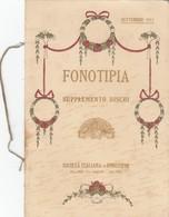 """9105-FONOTIPIA-VIOLINISTA FRANZ VON VECSEY CON IL SUO """"STRADIVARIUS""""-1911 - Pubblicitari"""