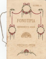 "9105-FONOTIPIA-VIOLINISTA FRANZ VON VECSEY CON IL SUO ""STRADIVARIUS""-1911 - Publicités"