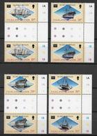 FALKLAND - BATEAUX - YVERT 461/464 EN PAIRE INTERPANNEAU ** MNH - COTE = 13+ EUR. - Falkland
