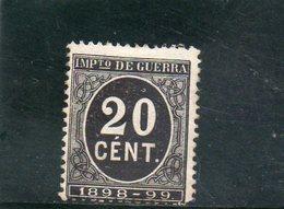 ESPAGNE 1898 SANS GOMME - Impots De Guerre