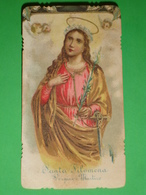 S.ta FILOMENA Vergine Martire - Santino Vecchio Cromolito - Senza Serie - Images Religieuses