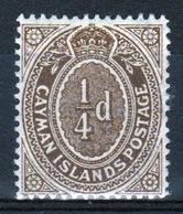 Cayman Islands 1908 Single ¼d Grey Brown Definitive Stamp. - Cayman Islands