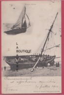 76 - DIEPPE----Barque Echouée----animé---précurseur - Dieppe