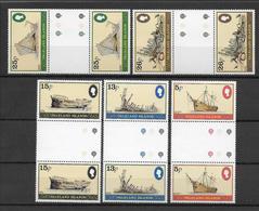 FALKLAND - BATEAUX - YVERT 254/268 EN PAIRE INTERPANNEAU ** MNH - COTE = 11+ EUR. - Falkland