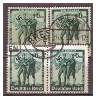 3,Reich: 1938: 2x Nr. 662/3,gestempelt - Germany
