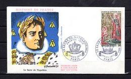 """"""" SACRE DE NAPOLEON A NOTRE DAME DE PARIS """" Sur Enveloppe 1er Jour De 1973. Oblitération PARIS . N° YT 1776. FERMEE. FDC - Napoleon"""