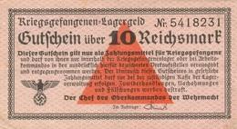 10 REICHSMARKS CAMPS DE PRISONNIERS DE GUERRE - [ 4] 1933-1945 : Troisième Reich