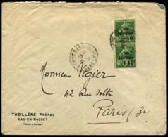 Lot N°7306d France N°253 En Paire Obl De BAS-EN-BASSET Pour PARIS 1932 - TB - 1921-1960: Période Moderne