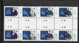 FALKLAND - BATEAUX - YVERT 444/447 EN PAIRE INTERPANNEAU ** MNH - COTE = 18+ EUR. - Falkland
