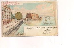 2708) Campania NAPOLI Gruss LITHO 1901 Viaggiata Francobollo Asportato - Saluti Da.../ Gruss Aus...