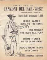 9109-CANZONI DEL FAR-WEST-OTTOBRE 1965 - Musique