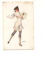 2711) Illustratori Bertiglia Donnina 1917 Viaggiata - Bertiglia, A.