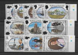 FALKLAND - YVERT 376/386  ** MNH - COTE = 25 EUR. - Falkland
