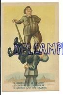 St Georges Et Le Dragon. Guerre 40-45. Trois Langues. Soldat Allié Qui Terrasse Un Soldat Allemand - Guerre 1939-45