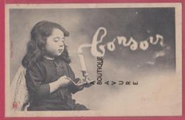 ILLUSTRATEUR BERGERET-----Bonsoir Petite Fille Soufflant Une Bougie - Bergeret