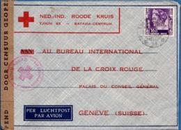 Dutch Indies 1941 Censored Red Cross Letter To  Switzerland - Geneva - Niederländisch-Indien