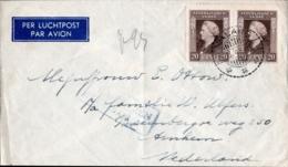 Dutch Indies 1948, 18 March Malang  To Arnhem (Netherlands) 2nd Weight Airmail Rate, Fiscal Censor Marking - Niederländisch-Indien