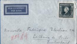 Dutch Indies 1947 60 Cts Single Franking On Letter To Switzerland, Chaud De Fonds - Niederländisch-Indien