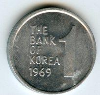 Corée Du Sud South Korea 1 Won 1969 KM 4a - Corée Du Sud