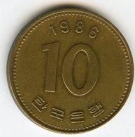 Corée Du Sud South Korea 10 Won 1986 KM 33.1 - Corée Du Sud
