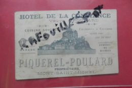 Pub Hotel De La Confiance Veuve Poulard Piquerel-poulard Mont St Michel - Publicités