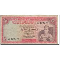 Billet, Ceylon, 5 Rupees, 1974-08-27, KM:73a, B+ - Sri Lanka