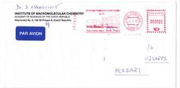 K98 Czech Republic Red Meter Freistempel EMA 2001 PRAHA INSTITUT DE CHIMIE MACROMOLÉCULAIRE - Tchéquie