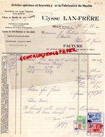 BELGIQUE - GILLY-RARE FACTURE ULYSSE LAN-FRERE- ARTICLES FABRICATION DU MEUBLE-SERRURES-21 PLACE CHANTRAINE-1932 - Artesanos
