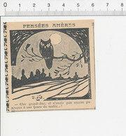 2 Scans 1906 Humour Oiseau Hibou Grand Duc Lune / Dot De Mariage 51C27 - Documentos Antiguos