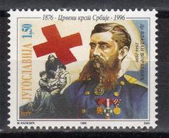 Yugoslavia,120 Years Of Red Cross In Serbia 1996.,MNH - 1992-2003 République Fédérale De Yougoslavie