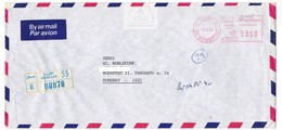 K101 Kuwait Red Meter Stamp Freistempel EMA 1989 KUWAIT Recommandée Registered Letter - Koweït
