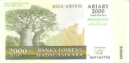 Madagascar  2000 Ariary  2007-2012  UNC - Madagascar