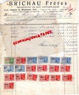 BELGIQUE - HAL- RARE FACTURE BRICHAU FRERES- IMPORTATION BOIS CONTREPLAQUES-33 CHEMIN DE RHODENEM-1935 - Petits Métiers