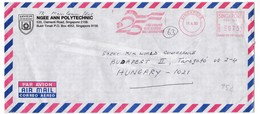 K102 Singapore Red Meter Freistempel EMA 1990 SINGAPORE ONE PEOPLE ONE NATION ONE SINGAPORE Recommandée Registered Lette - Singapour (1959-...)
