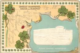 Hongrie - Gruss Aus Budapest In 1902 - Rudolfsquai - Beautiful Embossed Postcard - Hongrie