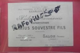 Pub Huileries Savonnerie Exportation Marius Souvestre Salon - Publicités