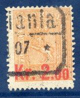 NORWAY 1906 Surcharge Kr. 2.00 On 2 Sk., Used.  Michel 64 - Gebruikt