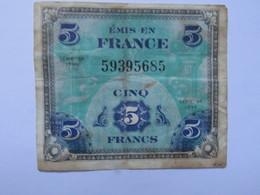 Libération Billet De 5 Francs Drapeau 1944 émis En France - Assignats