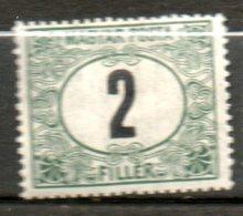 HONGRIE Taxe 2fi Vert Noir 1903 N°2 - Segnatasse