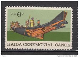 USA, MNH, Canoe, Bateau, Boat, Indiens D'Amérique, Amérindien, Amerindian, Culture, Haida, Cérémonie, Religion - Indiens D'Amérique